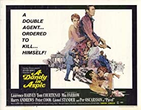 Dandy in Aspic Movie Poster (22 x 28 Inches - 56cm x 72cm) (1968) Half Sheet -(Laurence Harvey)(Tom Courtenay)(Lionel Stander)(Mia Farrow)(Harry Andrews)(Peter Cook)