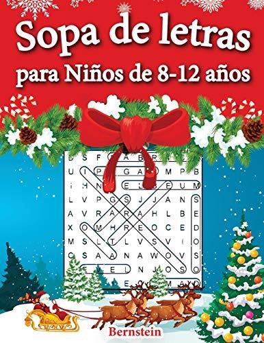 Sopa de letras para Niños de 8-12 años: 200 Sopa de letras con soluciones - Entrena la Memoria y la Lógica (Edición navideña)