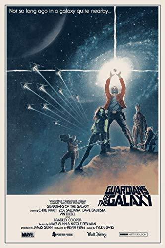Guardianes de la Galaxia–Póster impreso de la película importado de EEUU–30cm x 43cm Producto nuevo
