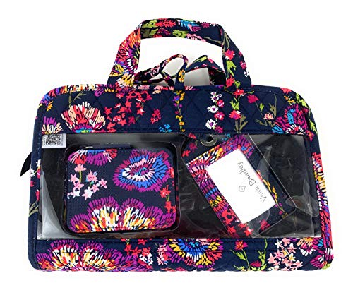 Vera Bradley Travel Bundle Cosmetic Pill Box Luggage Tag Midnight Wildflowers