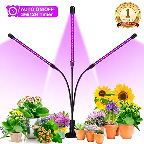 Grow Light, Ankace 60W Tri Head Timing 60 LED 5 Dimmable Levels Plant Grow...