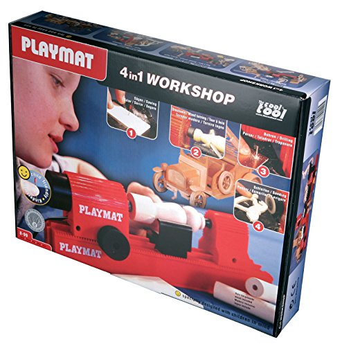 The Cool Tool Playmat 4 in 1 Workshop World's Only Child-Friendly Working Jigsaw