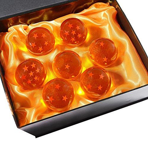 DeliaWinterfel Dragon Ball Z 7 Cristales en Caja Regalo All Stars , 5,7 cm , Junto de 7 pz , Anime by