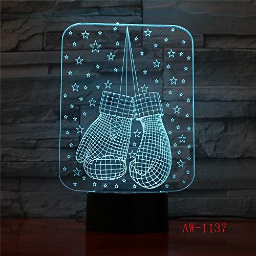 3D USB Handschuhe Schreibtischlampe Vision LED Stimmung Dimmen Schlaf Nachtlicht Kinder Spielzeug Licht Schlafzimmer Dekoration Geschenk AW3
