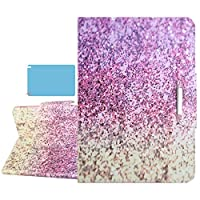 Billionn for Samsung Galaxy Tab A 8.0 2019ケース(SM-T290 T295 T297)+スクリーンプロテクター、プレミアムPUレザーフォリオスタンドケース、ポケット付き、ピンクの砂