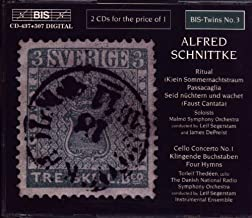 Schnittke: Ritual; K ein Sommernachtstraum; Passacaglia; Seid nüchtern und wachet Faust Cantata ; Concerto for Cello No. 1; Sounding Letters Klingende Buchstaben ; Hymns