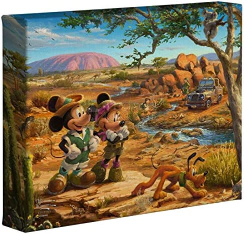 Thomas Kinkade Studios Disney Mickey and Minnie in The Outback 8 x 10 Gallery Wrapped Canvas product image