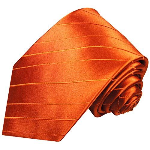 Cravate homme orange uni 100% cravate en soie ( longueur 165cm )