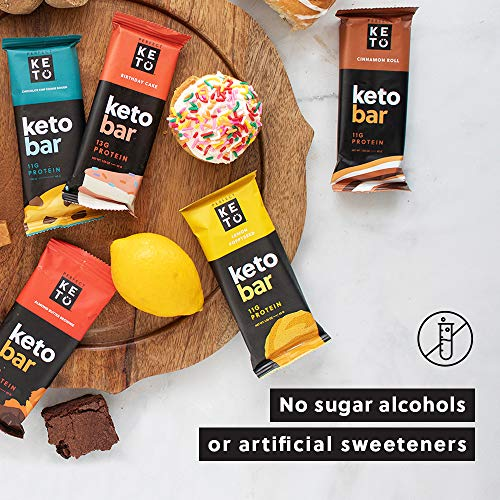 Perfect Keto Bars - The Cleanest Keto Snacks with Collagen and MCT. No Added Sugar, Keto Diet Friendly - 3g Net Carbs, 19g Fat,11g protein - Keto Diet Food Dessert (Salted Caramel, 12 Bars) 8