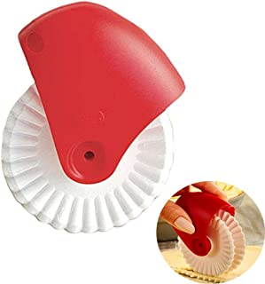 Allupup Pastry Wheel Cutter, Beautiful Lattice Pie Crust or Ravioli Pasta, Easy to Use, Easy to Clean (F)