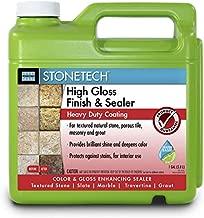 StoneTech High Gloss Finishing Sealer for Natural Stone, Tile, Grout, 1-Gallon (3.785L)