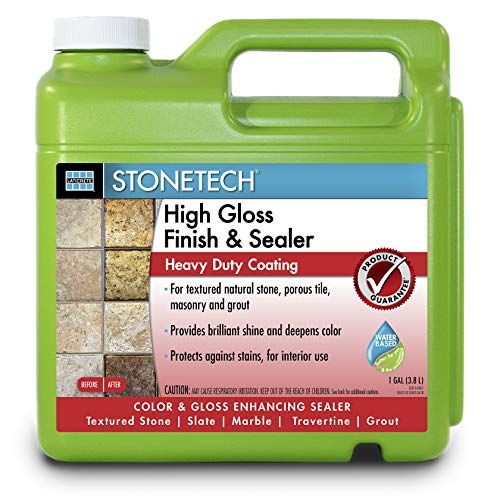 StoneTech High Gloss Finishing Sealer for Natural Stone, Tile, Grout, 1-Gallon (3.785L)