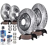Detroit Axle - Front and Rear Drilled Brake Rotors and...