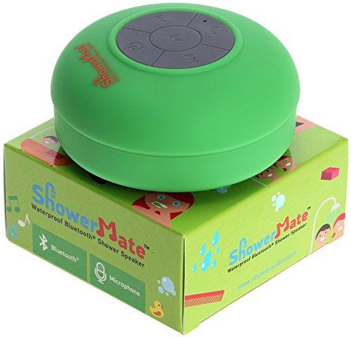 Shower Mate Wireless Bluetooth Lautsprecher, Wasserdichtes Duschradio mit Freisprecheinrichtung und Eingebautem Mikrofon, Kompatibel mit Allen Bluetooth Geräten (Grün)