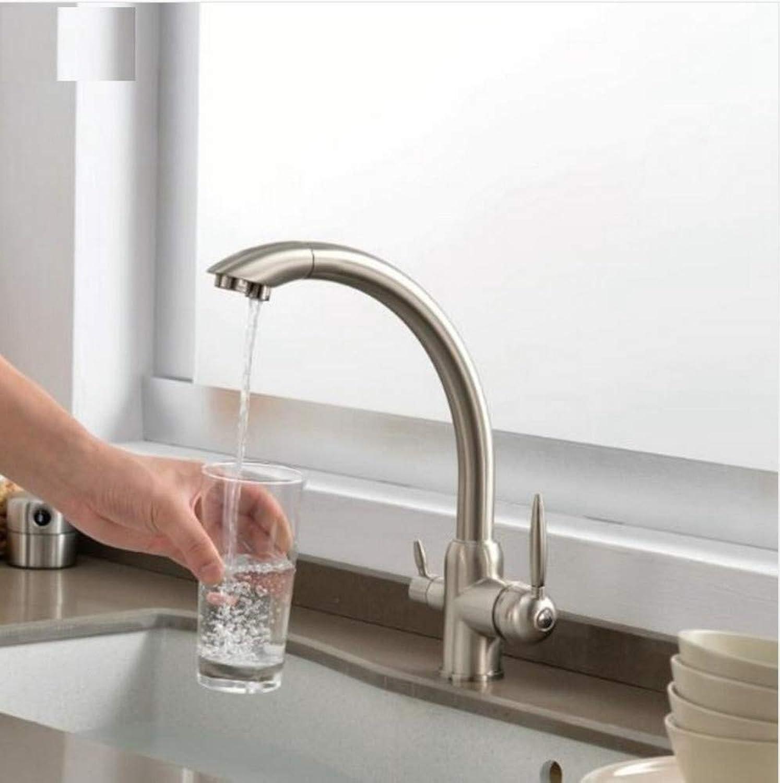 Dwthh Küchenarmaturen Aus Massivem Messing Für Küche Gereinigt Wasserfilter Wasserhahn Drei Mglichkeiten Waschbecken Mischer Weg Küchenarmatur