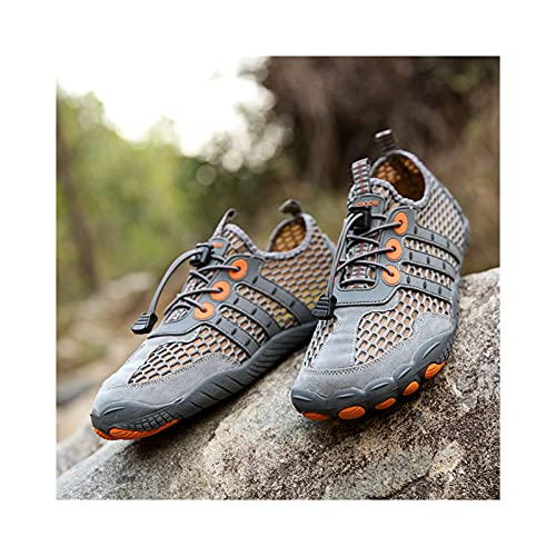 Zapatillas de Ciclismo de Verano,Zapatillas de Ciclismo Sin Bloqueo,Zapatillas de Bicicleta de Carretera Mtb,Zapatillas de Ciclismo Desbloqueadas Compatibles con Escalada en Roca,Nadar,Grey-42