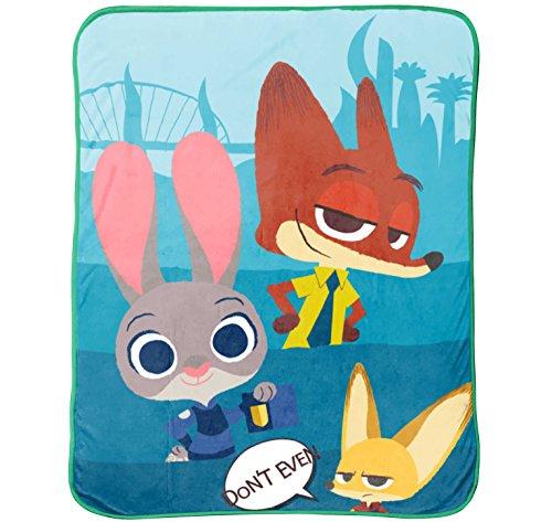 Disney/Pixar Zootopia Bunny Ears Plush Throw, 50 x 60