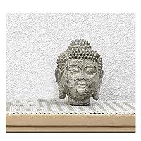 仏像 家の装飾 お友達への仏像禅ギフト 風水 仏壇仏像 置物 仏像像樹脂製の瞑想の家の装飾、屋外/屋内庭の彫像 幸運と繁栄をもたらすシンボル 健康と安全を祈る仏像 (Color : B)