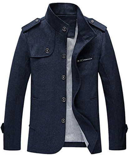 Mens Blue Military Jacket