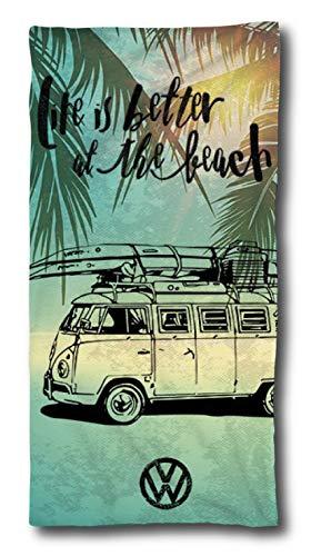 Toalla Volkswagen Bulli, 75 x 150 cm, Regalo de VW Bulli, Toalla de baño de algodón, para Camping, Playa, Volkswagen T1, T2, T3