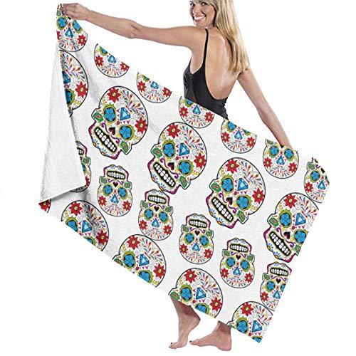 Toallas Bathroom Towels Toalla De Baño Travel Diamond Mexico Sugar Skull Soft Sand Free Shower Towels 80X130CM