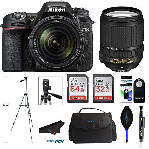 Nikon D7500 20.9MP DSLR Digital Camera with 18-140mm VR Lens + Pixibytes Professional Bundle