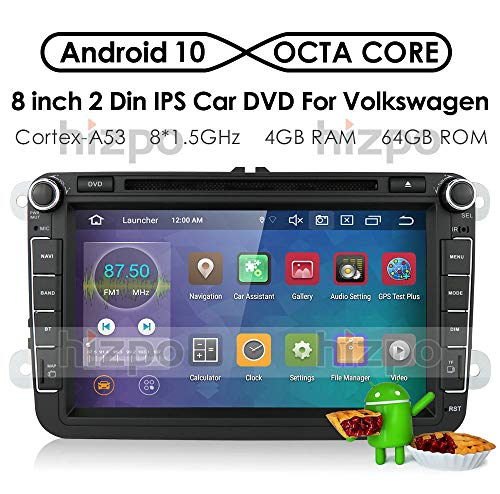 hizpo Android 9.0 Autoradio DVD-speler GPS Can-Bus Mirrorlink Bluetooth OBD2 8-inch multi-touchscreen-achteruitrijcamera voor Volkswagen VW Golf Polo Passat Tiguan Jetta