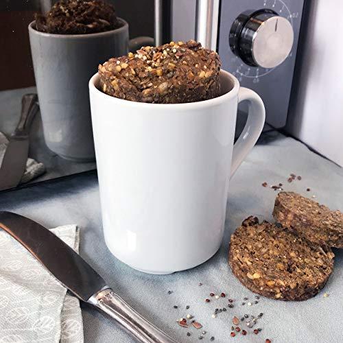 Minutenbrot Classic (High Protein) Brotbackmischung | 3·2·1 Brot ist fertig | 480g für 6 kleine Brote: Natürlich, Kohlehydratarm, Ballaststoffreich, Hefe- und Laktosefrei, ohne Konservierungsstoffe