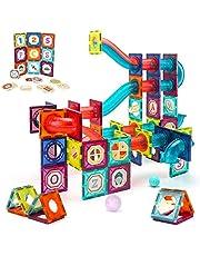 VATOS magnetische bouwstenen, 125-delige grote constructie STEM-bouwstenen set, Montessori-speelgoed voor kinderen van 3-8 jaar, educatief speelgoed voor meisjes en jongens, cadeau