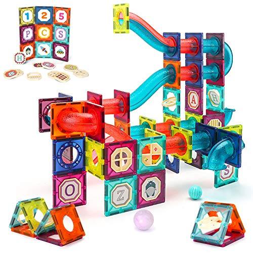 VATOS Magnetische Bausteine 125PCS Große Konstruktion STEM Bausteine Set Montessori Spielzeug für Kinder ab 3 4 5 6 7 8 Jahre, Lernspielzeug für Mädchen Jungen Geschenk