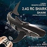OUTTUO RC Jouet Électrique, 2.4G Simulation Télécommande Requin, Bateau Jouet Imperméable Requin Jouet Vitesse Électrique RC Poisson Bateau Requin , Grand Cadeau Jouet pour Adultes Enfants