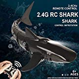 OUTTUO Mini RC Tiburón Juguete de Control Remoto Nadar Juguete Bajo el Agua RC Barco Piscina de Juguete de Parodia de Barco de Carreras Eléctricas, Gran Regalo de Juguete