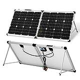 DOKIO Kit Panneau solaire pliable 100WC - 12V Idéal pour les utilisations embarquées comme le bateau, camping-car, véhicule...
