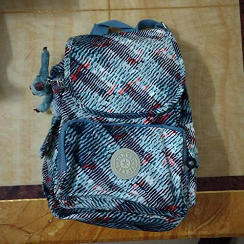 SAMJGF Leisure Backpack Nylon Waterproof Multicolor Flower Cloth Backpack Student Backpack Monkey Casual Backpack, Snake Pattern