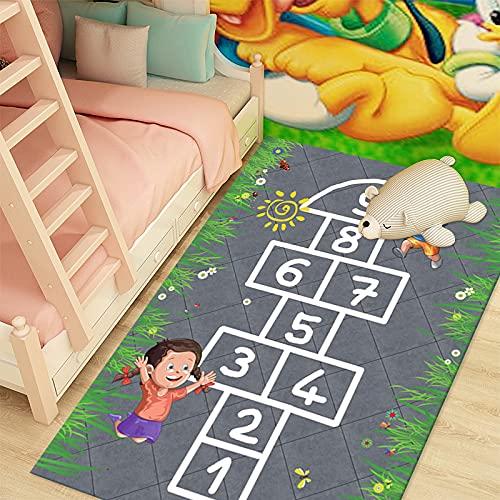 ZAZN Cartoon Pattern Rug Boy Girl Bedroom Bedside Blanket Number Game Baby Early Education Crawling Mat Children Lattice Mat