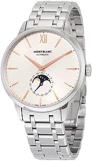 Montblanc - Heritage Spirit 111621 Reloj automático de acero inoxidable con esfera plateada para hombre