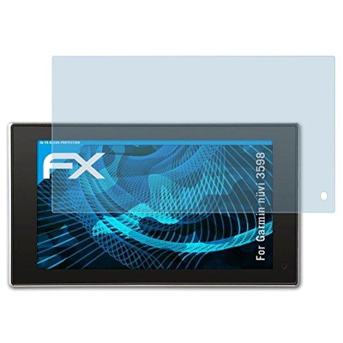 atFoliX Schutzfolie kompatibel mit Garmin nüvi 3598 Folie, ultraklare FX Displayschutzfolie (3X)