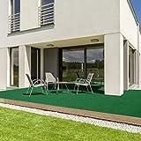 casa pura® Komfort Kunstrasen mit Noppen   Meterware   wetterfest & schnelltrocknend   Rasenteppich für Terrasse, Balkon und Freizeit (Dunkelgrün, 200x200 cm) - 2
