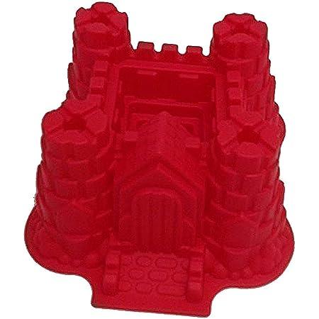 GMMH Moule à gâteau en silicone motif Château petit format rouge