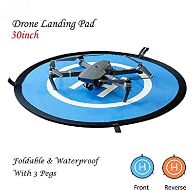 Waterproof Launching Landing Drone Pad with Carry Bag,Portable Landing Pad for RC Drones Remote Controlled Aircraft Helicopter,DJI Mavic Pro Phantom 2/3/4, Inspire 1,Mavic Pro Mavic Air (29in/75cm)