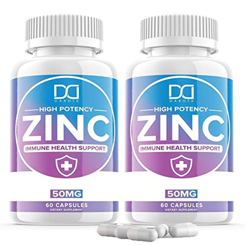 Zinc 50mg Vitamin Supplements for Immune Support System, Zinc Picolinate for Adults Kids - Zinc Pills Offer Powerful Alternative to Lozenge, Chewable Tablets, Liquid (2 Month Supply | 2 Pack)