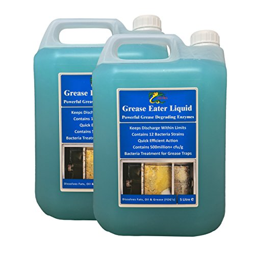 Grease Traps Degreaser +Drain Cleaning Enzymes Treatment HYDRA Grease Eater Enzyme Liquid 2 X 5 Litre