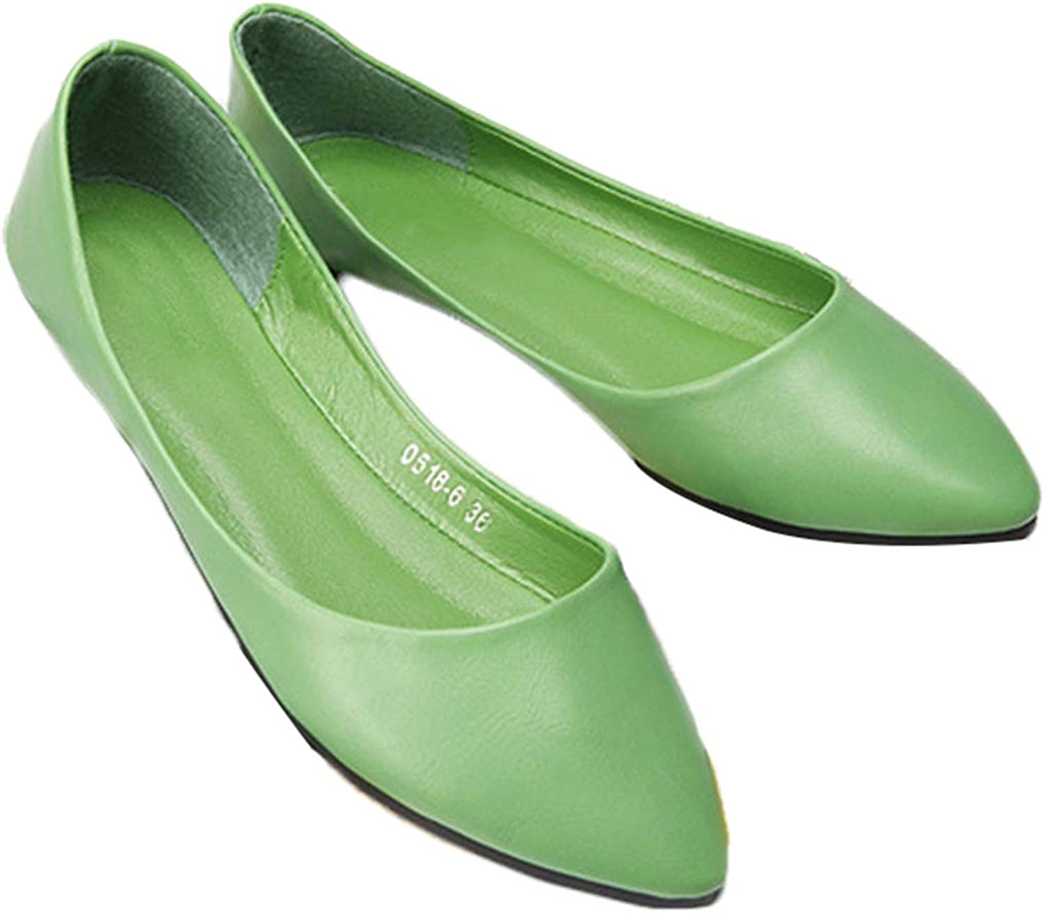 Women Flats, Sweet Solid Ballerina Pointed Toe Bowtie Slip On Ballet shoes