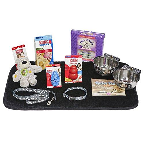 Puppy Starter Kit for Medium Dog Breeds, Kit includes: Kong Classic Toys & Treats   Coastal Dog Leash & Collar   MidWest Dog Bowls, Dog Bed & Training Pads