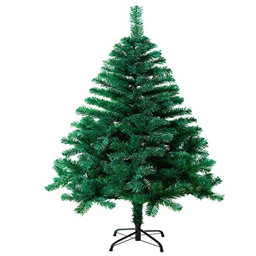 SAILUN 210 cm Albero di Natale Artificiale Albero di Natale con Supporto in Metallo, a pochi Minuti di Montaggio rapido con Sistema di Piegatura (210cm, PVC Verde)