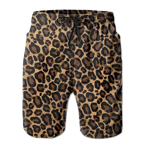 New Leopard Skin Herren Badehose Sommeranzug mit Taschen