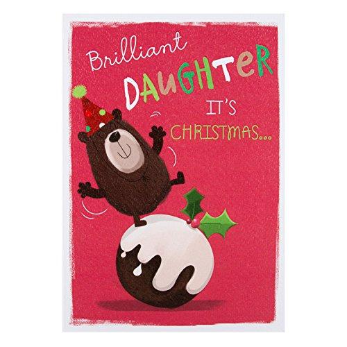 Hallmark-Weihnachtskarte für die Tochter - englischsprachig - Größe: L Yay