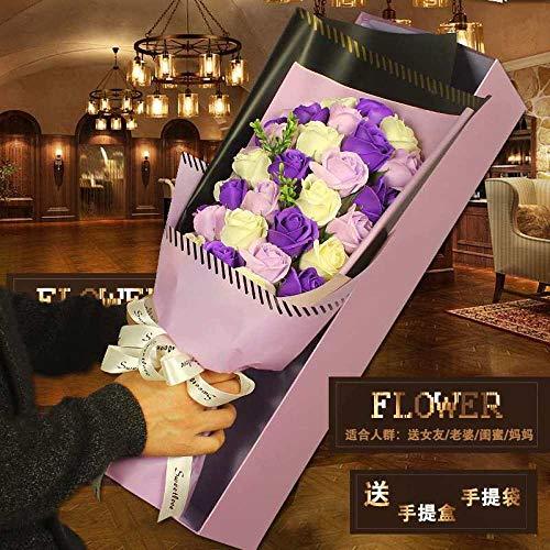 suluxin 5 Muttertag eine getrocknete Blume Rose Bouquet ewige Blume ins geschenkbox Blume Geburtstagsgeschenk Netto rot Valentinstag abschluss-Big Box ins33 Blume farbabstimmung (lila)