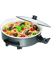 Clatronic PP 3570 C Partypan om te koken, braden, stomen, ontdooien en warm te houden, 1550 Watt