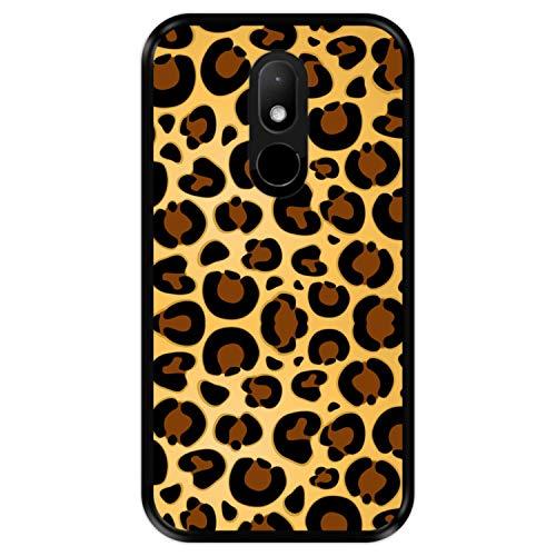 Hapdey Funda Negra para [ Wiko Wim Lite ] diseño [ Estampado Piel de Jaguar ] Carcasa Silicona Flexible TPU